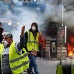 Беспорядки в Париже. Жёлтые жилеты сожгли жилой дом