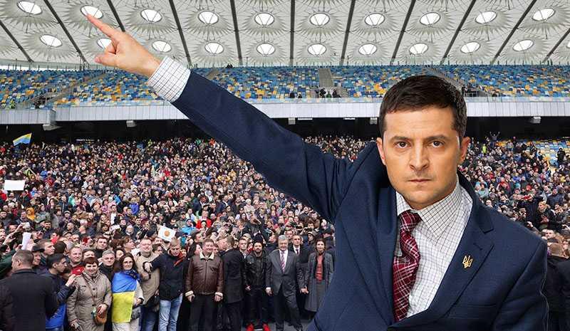 Кандидат в президенты Зеленский не приехал на дебаты устроенные Порошенко