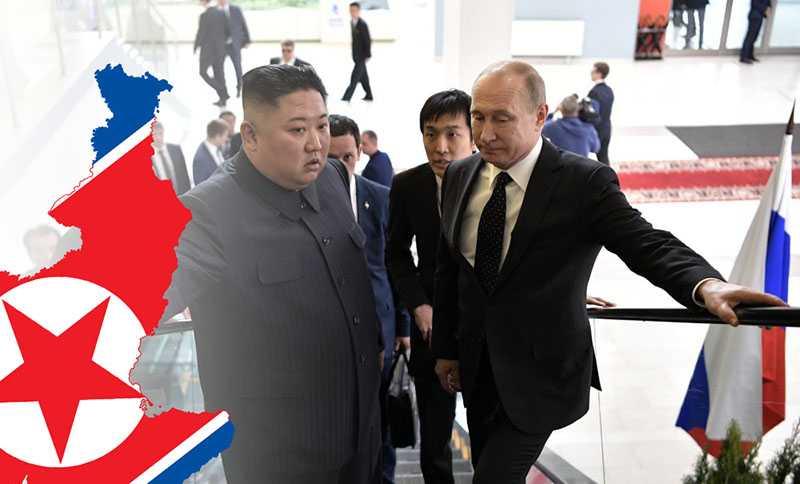 О чём разговаривали Президент Путин и лидер КНДР Ким Чен Ын