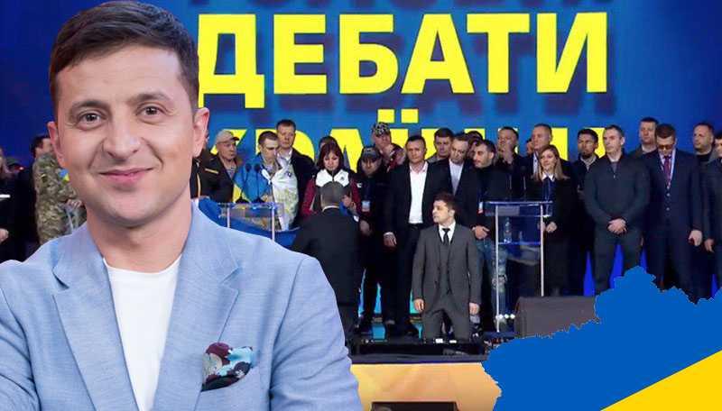 Порошенко и В. Зеленский завершили дебаты в НСК Олимпийский под возгласы поддержки толпы и крики позор