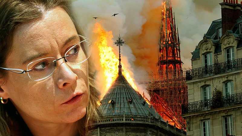 Посол Франции на Украине назвала позором слова украинского телеведущего о пожаре в Нотр-Дам де Пари