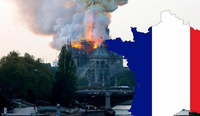 Трагедия во Франции. Ужасный пожар в Соборе Нотр дам де Пари