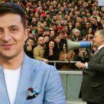 Зеленский обвинил Порошенко в том, что он не работает, а только бегает по телеканалам