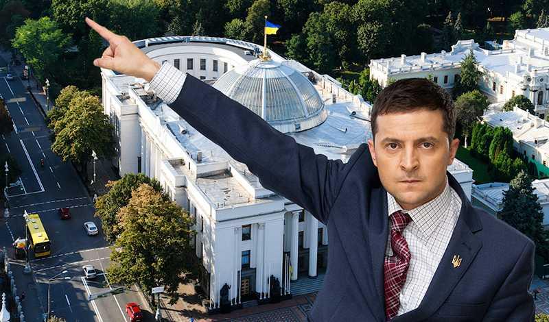 Зеленский проводит опрос о необходимости досрочного роспуска украинского парламента