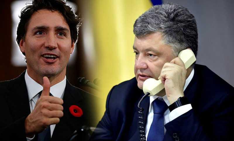 Канадский премьер поблагодарил Порошенко за своевременное признание итогов президентских выборов в стране