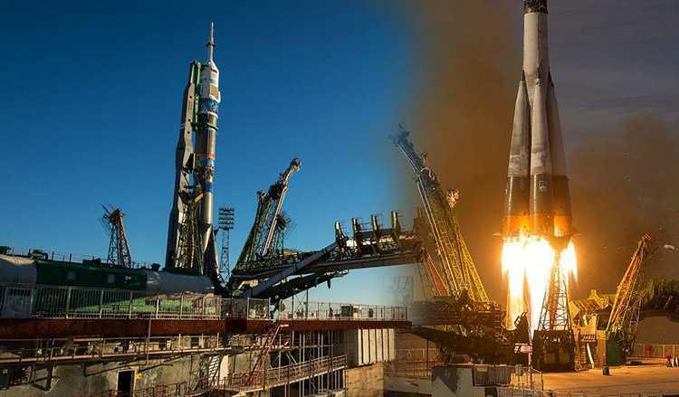 Астронавты из NASA и ESA полетели в космос на ракете Союз-ФГ