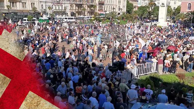 В Грузии прошёл митинг в поддержку налаживания отношений с Россией