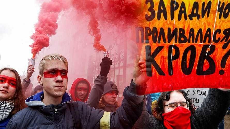 Митингующие в Украине требуют выразить своё отношение к формуле Штайнмайера