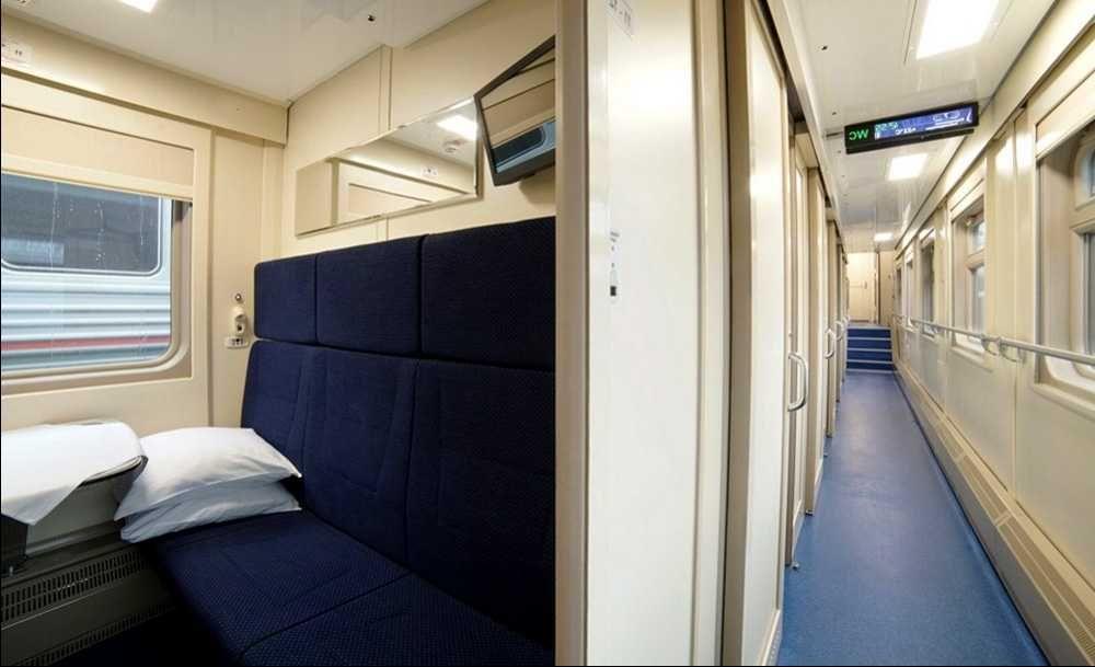 фото интерьера вагонов в поездах Таврия