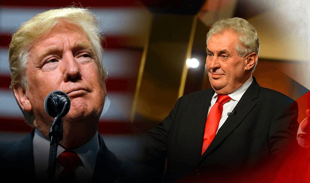 Президент Чехии Земан рассказал, что его вместе с американским президентом считают российскими агентами