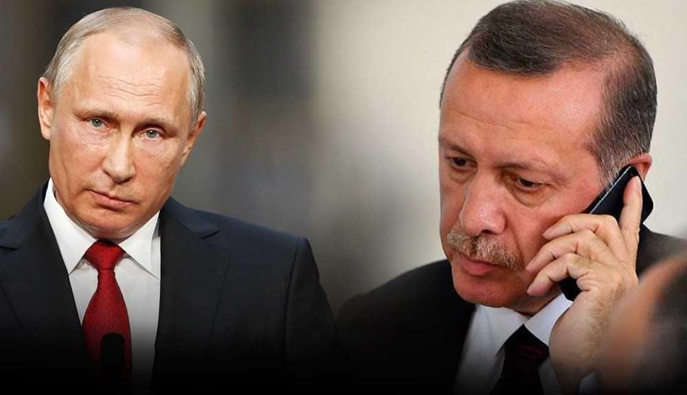 Путин и Эрдоган в ходе телефонного разговора обсудили ситуацию в Сирии