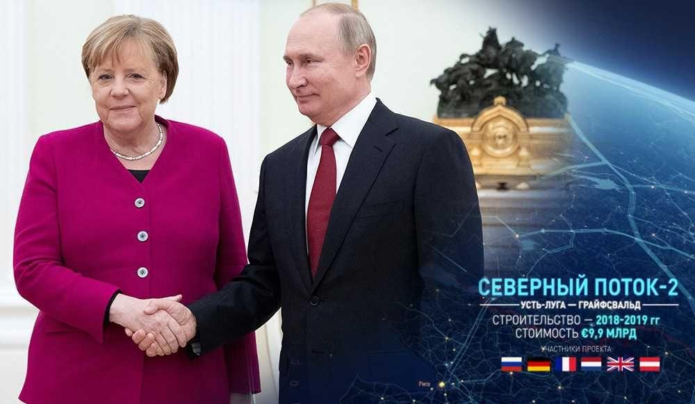 Меркель заявила в Кремле, что Германия и другие европейские страны выигрывают от Северного потока-2