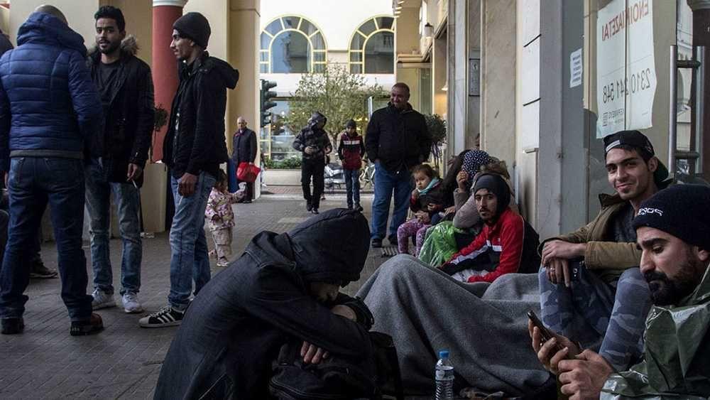 Мигранты на улицах Стокгольма