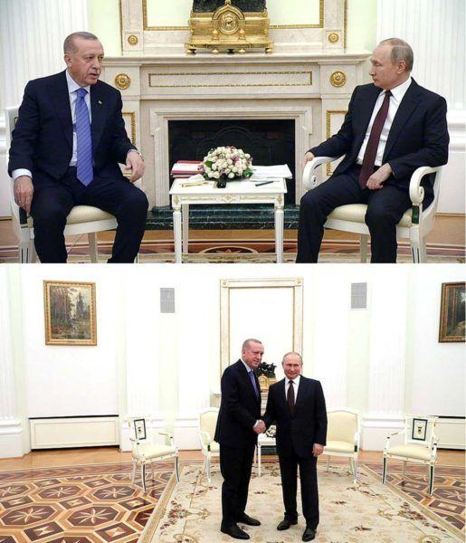 Встреча Владимира Путина и Реджепа Эрдоган 5 марта в Москве