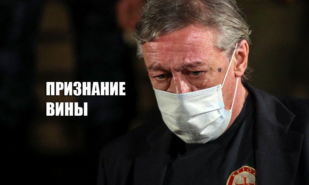 Ефремов в суде признал себя виновным в совершении преступления