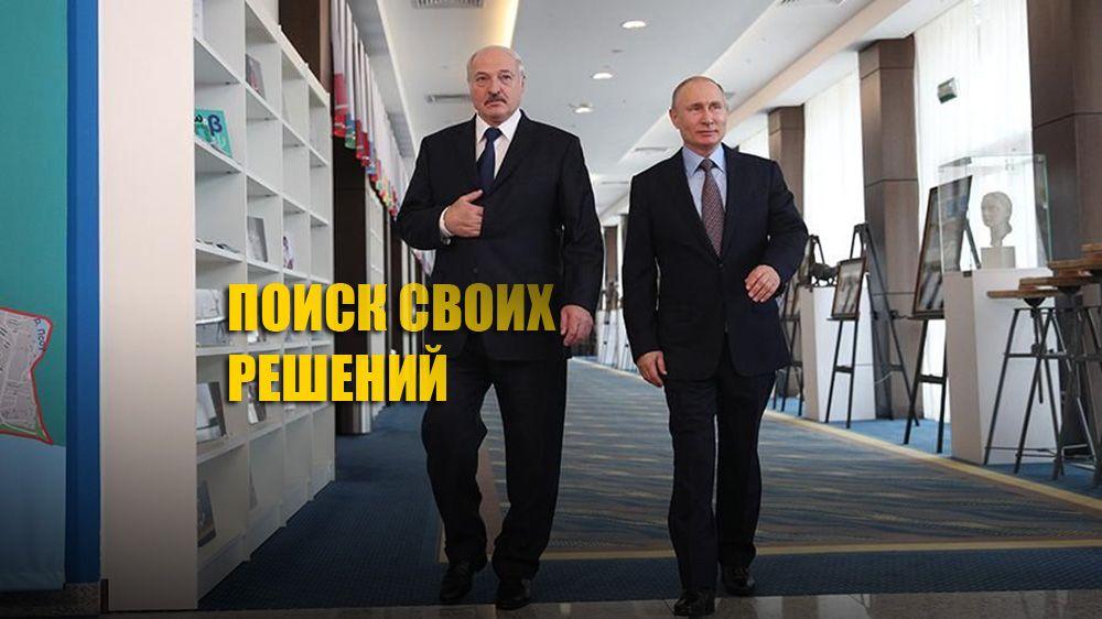 Президент Путин заявил, что белорусы должны самостоятельно разрешить ситуацию в стране
