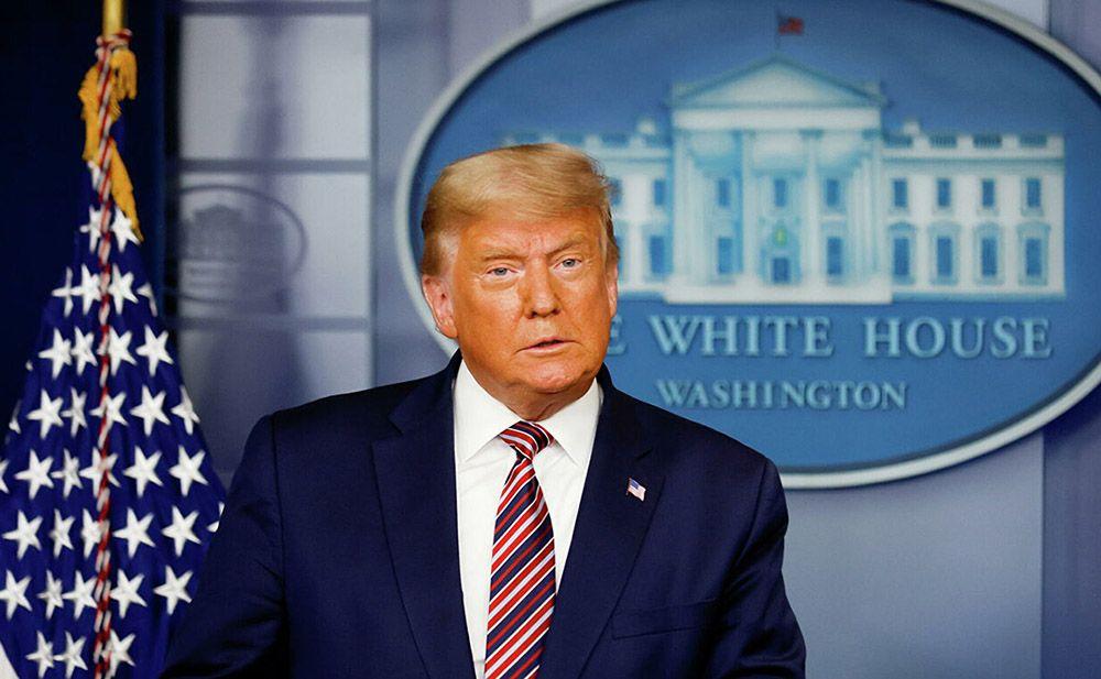 Американские СМИ прервали трансляцию выступления Трампа из Белого дома