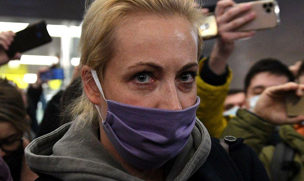 Жена Навального сообщила о своём задержании из автозака