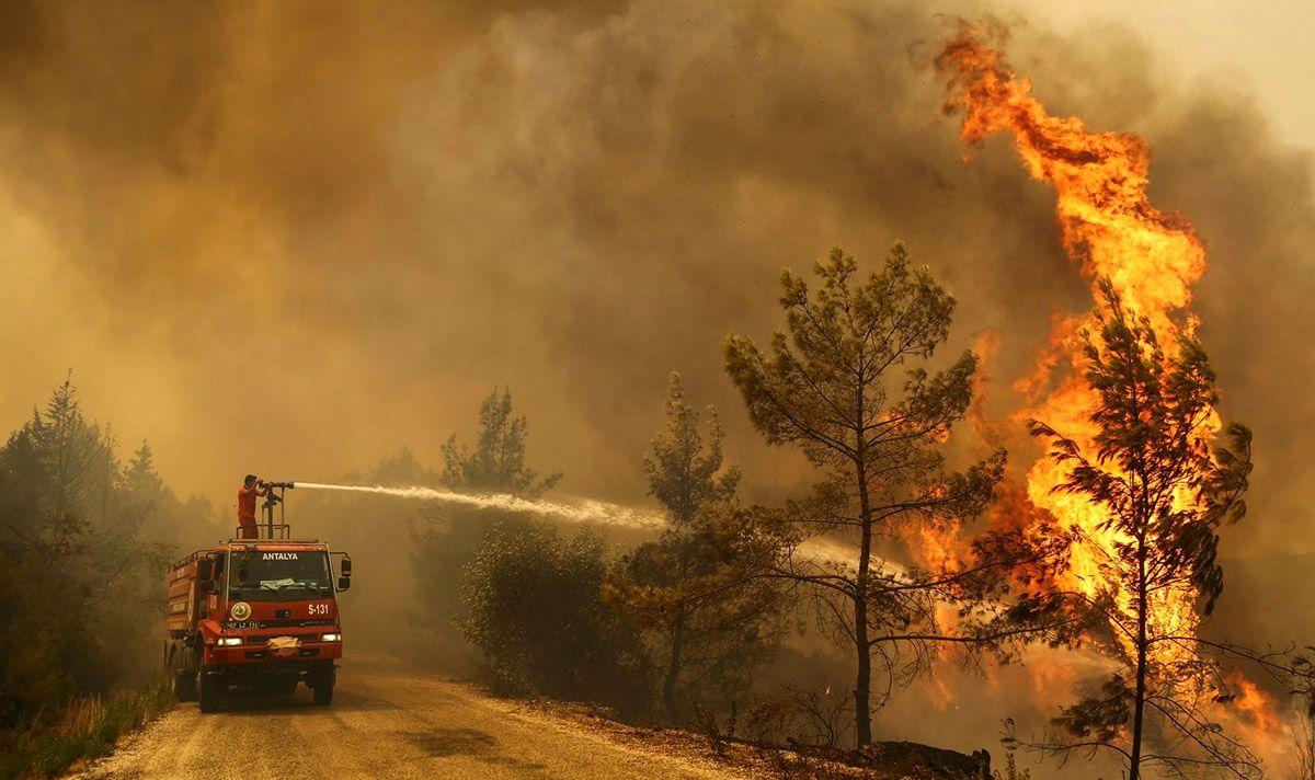 решение России оказать Анкаре помощь в тушении лесных пожаров