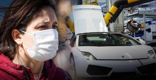 Lamborghini будет производить медицинские маски